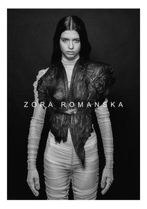 LAVA LEATHER VEST NECKLACE | zoraromanska.com | ZR Zora Romanska - Handmade Leather Jewelry