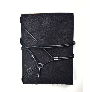 LEATHER NOTEBOOK WITH SILVER KEY | zoraromanska.com | ZR Zora Romanska - Handmade Leather Jewelry