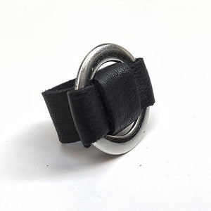 NET LEATHER RING | zoraromanska.com | ZR Zora Romanska - Handmade Leather Jewelry