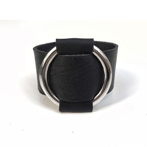 LEATHER RING BLACELET | zoraromanska.com | ZR Zora Romanska - Handmade Leather Jewelry