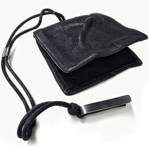 LEATHER WALLET WITH SILVER CLIP | zoraromanska.com | ZR Zora Romanska - Handmade Leather Jewelry