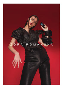 LEATHER BRACELET SQUARE | zoraromanska.com | ZR Zora Romanska - Handmade Leather Jewelry