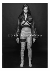 LAVA UNISEX LEATHER VEST WITH LACE | zoraromanska.com | ZR Zora Romanska - Handmade Leather Jewelry