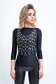 NET LEATHER TOP