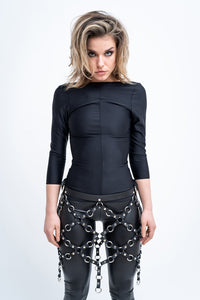 NET SKIRT WITH 2 ADJUSTABLE BUCKLES