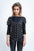 NET LEATHER T-SHIRT
