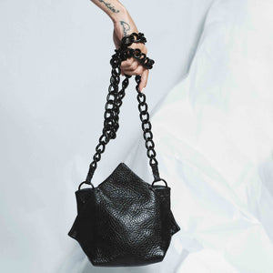 HIDDEN LEATHER TULIP MINI BAG | zoraromanska.com | ZR Zora Romanska - Handmade Leather Jewelry
