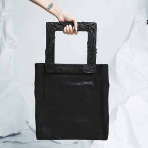 LAVA LEATHER SQUARE BAG | zoraromanska.com | ZR Zora Romanska - Handmade Leather Jewelry