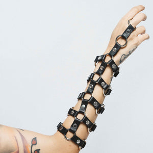 NET 5 STRAP LEATHER BRACELET | zoraromanska.com | ZR Zora Romanska - Handmade Leather Jewelry