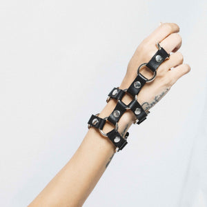 NET 2 STRAP LEATHER BRACELET | zoraromanska.com | ZR Zora Romanska - Handmade Leather Jewelry