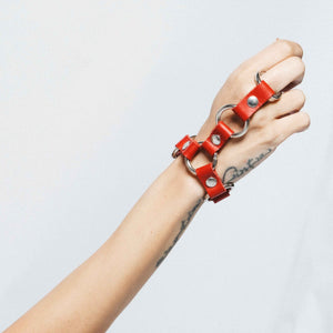 NET 1 STRAP LEATHER BRACELET | zoraromanska.com | ZR Zora Romanska - Handmade Leather Jewelry