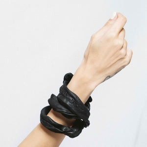 LAVA MULTIFUNCTIONALACCESSORY LEATHER BRACELET | zoraromanska.com | ZR Zora Romanska - Handmade Leather Jewelry