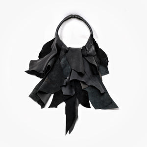 LEATHER MAGNIFICENT JABOT | zoraromanska.com | ZR Zora Romanska - Handmade Leather Jewelry
