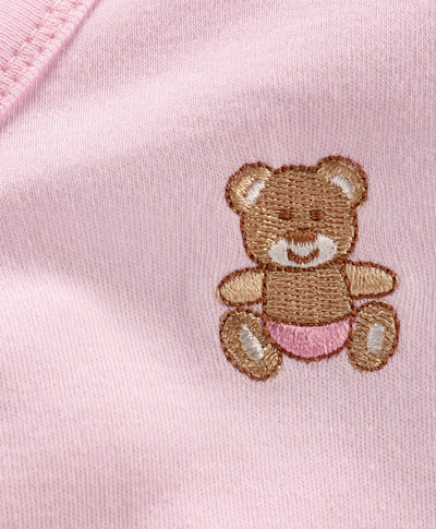 New Born Baby Essential Set- Gift Pack- Teddy Embroidery- Pack of 5 (Vest, Pant, Bib, Mittens and Cap)