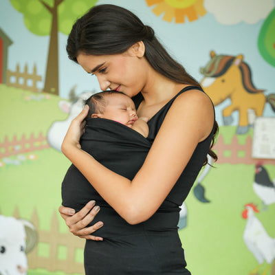 Mommy Cuddle - Nursing Top with inbuilt double layered nursing bra and front pouch for carrying infant