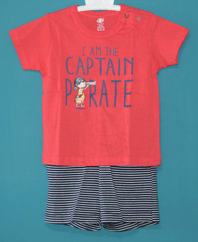 T-Shirt and Pant-Captain Pirate-100% Cotton-Unisex