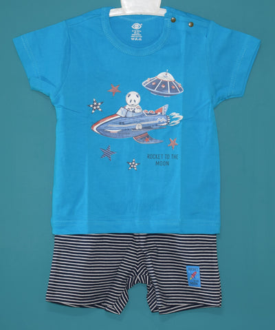 T-Shirt and Pant-Rocket To The Moon-100% Cotton-Unisex