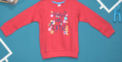 Full Sleeves Tee For Girls-Daddy's Cutie-100% Cotton
