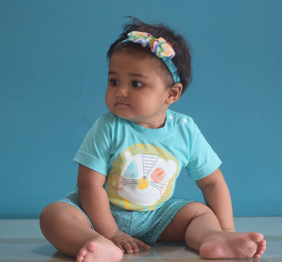 Newborn (0-3 M) T-Shirt and Pant-La Danza Aloha-100% Cotton-Unisex