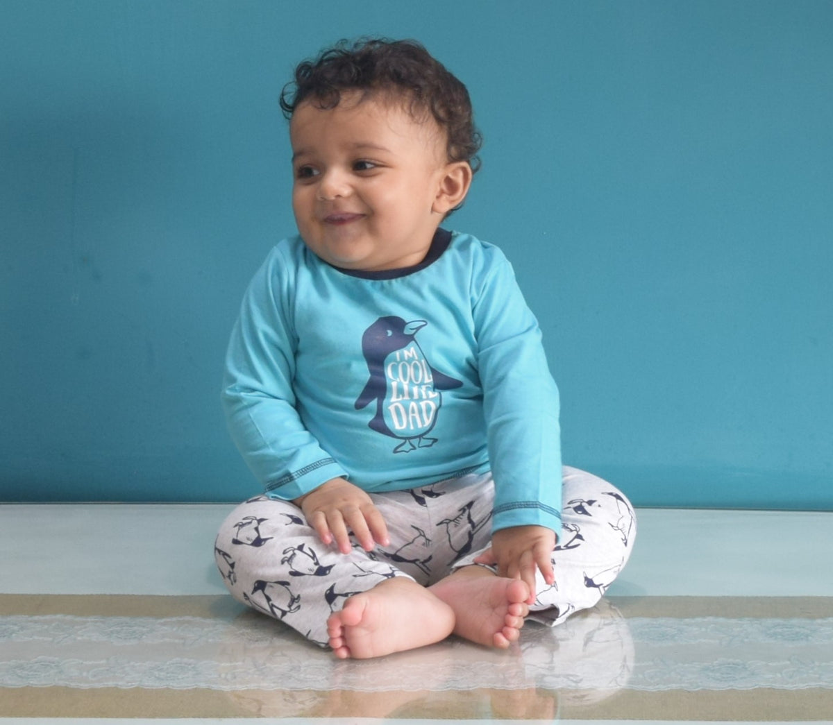 Full Sleeves Suit With Full Pant-Cool Like Dad- Unisex-100% Cotton
