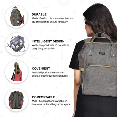 Diaper Bag Backpack, Multi-Function Waterproof Travel Maternity Bags, Large Capacity, Durable and Stylish