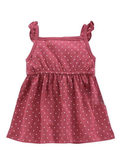 Frock with Polka Dots- 100% Cotton