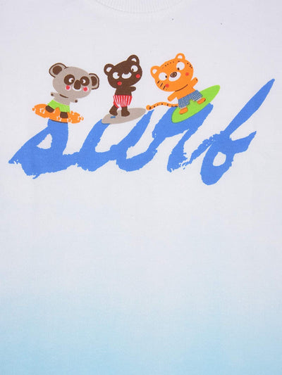 Half Sleeves T-Shirt- Bear Surf- Unisex- 100% Cotton