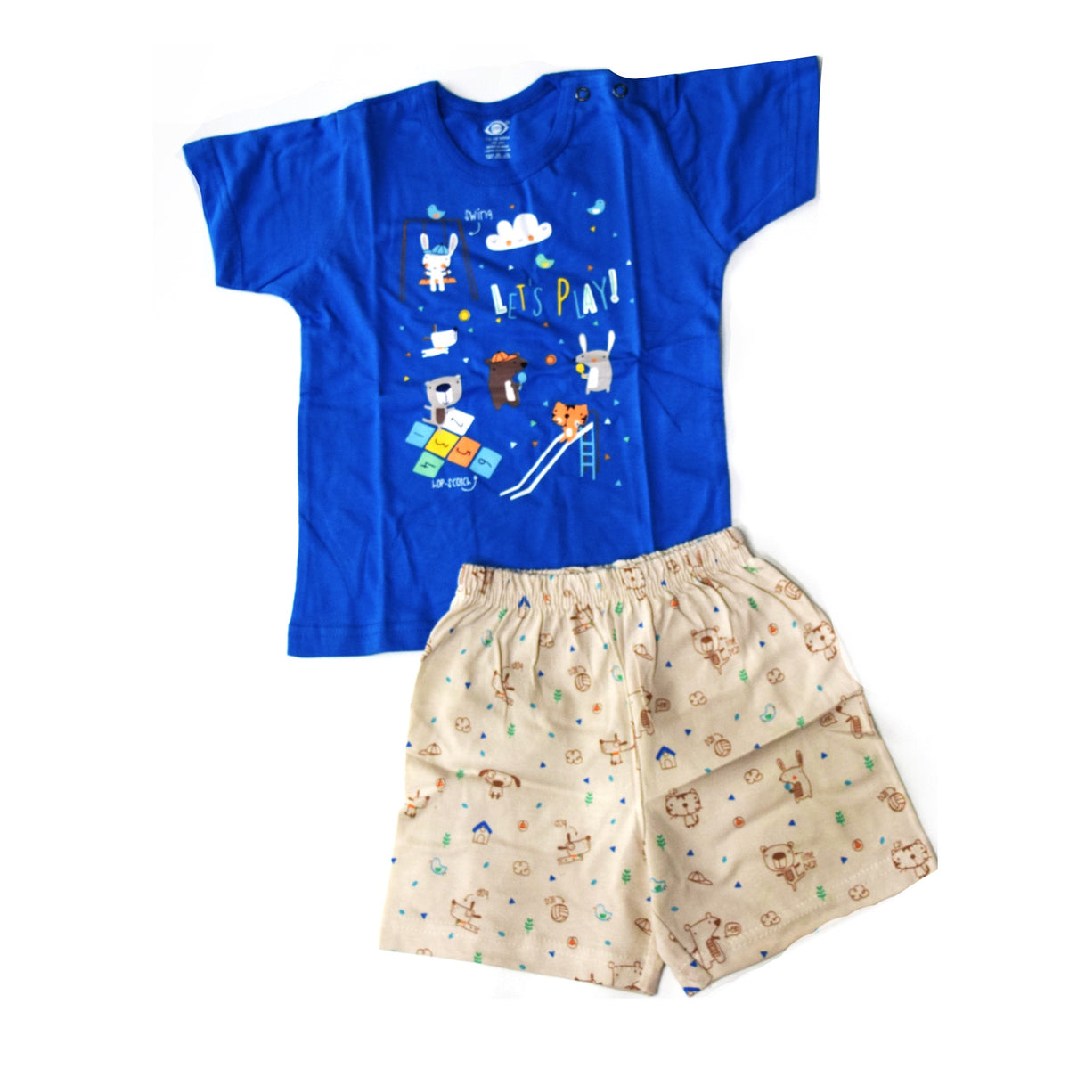 T Shirt and Half Pant-Play Ground- Unisex-100% Cotton
