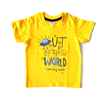 Half Sleeves T-Shirt- Out Of This World- Unisex- 100% Cotton