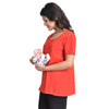 Mommy Cuddle Maternity Comfortable Nursing Tank Tops for Breastfeeding-Cotton Spandex Fabric- Both Pre & Post Pregnancy Wear- Free Size
