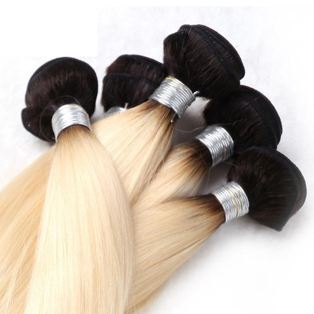 Sulmy 1 Bundle 1b/Blonde Two Tone Colored Straight Ombre Brazilian Human Hair Weave ombre hair weave SULMY