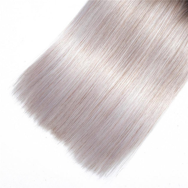 Sulmy 1 Bundle 1b/grey Two Tone Colored Straight Ombre Brazilian Human Hair Weave ombre hair weave SULMY