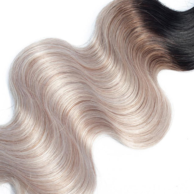 Sulmy 3 Bundles 1b/grey Two Tone Colored body wave Ombre Brazilian Human Hair Weave ombre hair weave SULMY