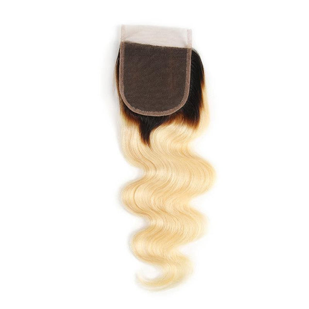 Sulmy 3 Bundles With Closure 1b Blonde Ombre Body wave Brazilian Hair Weave ombre hair weave SULMY