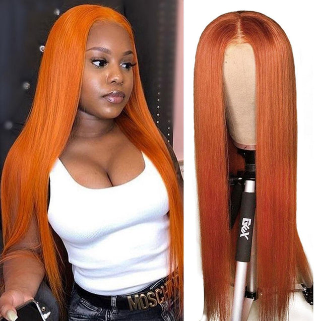 Dyed Human Hair Wigs Pre Colored Lace Front Wigs.