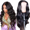 Lace Front Human Hair Wigs 13x4 Lace Wig Body Wave, Pre-plucked, 180% Density-SULMY