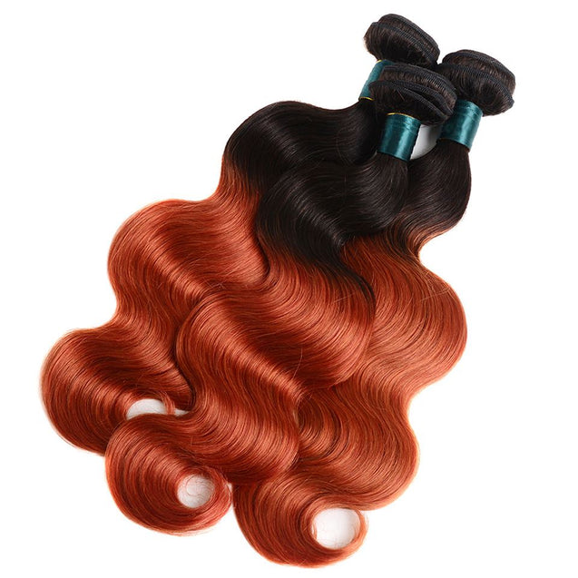 Sulmy 1 Bundle 1b/350 Two Tone Colored Body wave Ombre Brazilian Human Hair Weave ombre hair weave SULMY