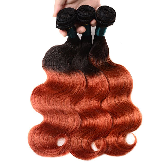 Sulmy 3 Bundles With Closure 1b 350 Ombre Body wave Brazilian Hair Weave ombre hair weave SULMY