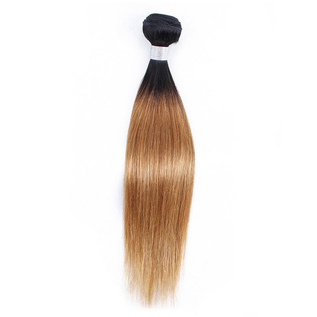 Sulmy 1 Bundle 1b/#27 Two Tone Colored Straight Ombre Brazilian Human Hair Weave ombre hair weave SULMY