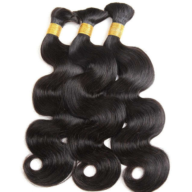 Bulk Human Braiding Hair No Weft Body Wave 300g