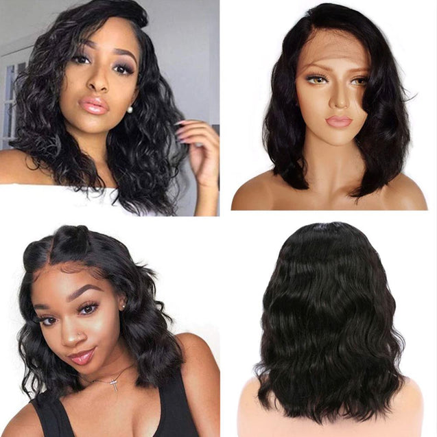 Sulmy Lace Front Bob Wigs Human Hair Short Frontal Wigs -Body Wave.