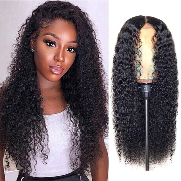 Lace Front Human Hair Wigs 13x4 Lace Wig Jerry Curls, Pre-plucked, 180% Density-SULMY.