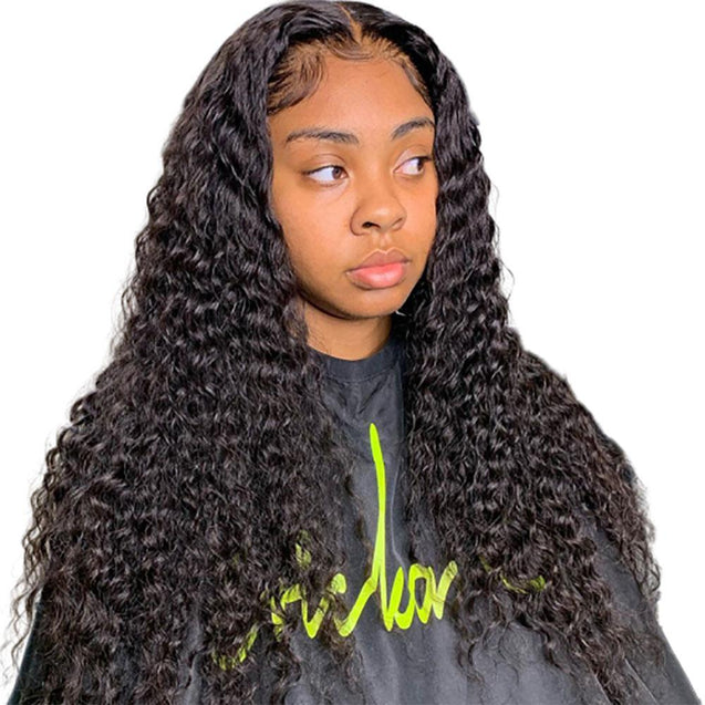 13x6 Lace Front Wigs Pre Plucked Human Hair Wigs Lace Front 180% Density -Deep Wave -SULMY