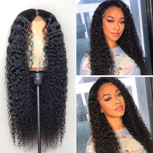 Glueless Full Lace Human Hair Wigs 360 Full Lace Front Wig -Curly