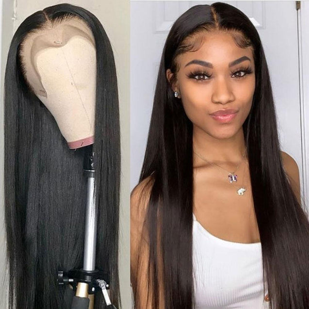 Glueless Full Lace Human Hair Wigs 360 Full Lace Front Wig -Silky Straight