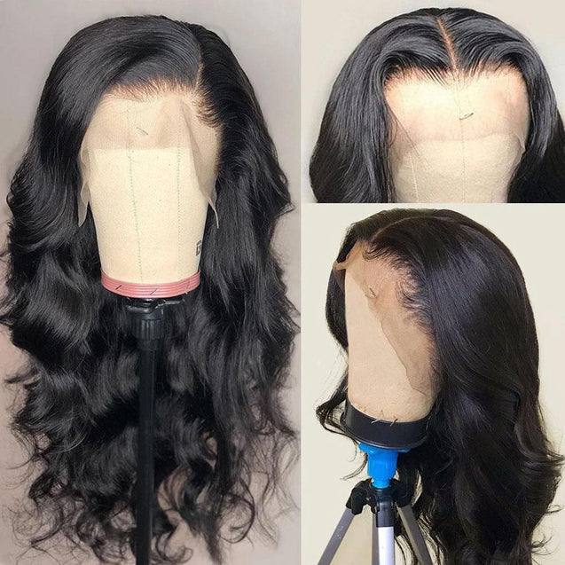Human Hair Wigs Lace Front Body Wave Wig 180% Density.