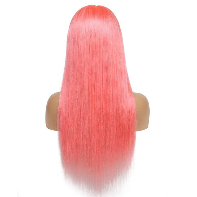 Perruque Lace Front Cheveux Humain Rose.