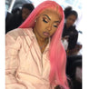Pink Wigs Human Hair Pink Lace Front Colored Wigs SULMY.