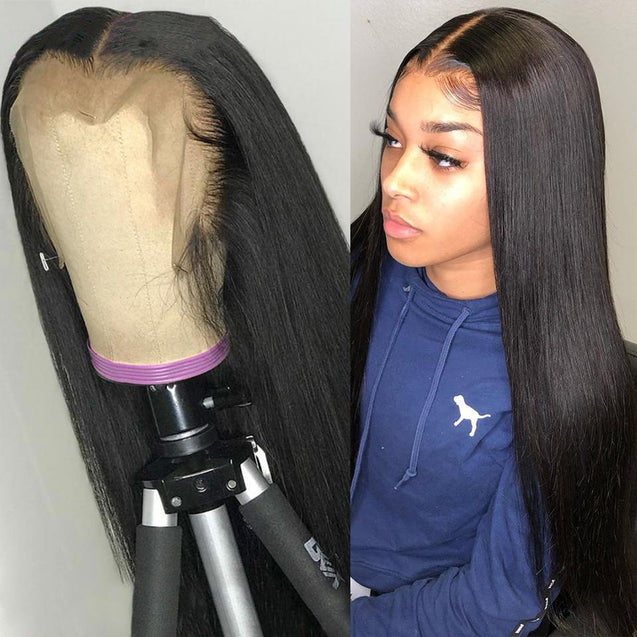 13x6 Lace Front Wigs Pre Plucked Human Hair Wigs Lace Front 180% Density -Silky Straight -SULMY.