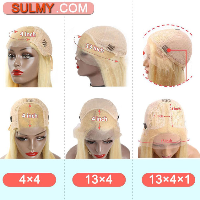 Pink Wigs Human Hair Light Pink Lace Front Colored Wigs SULMY